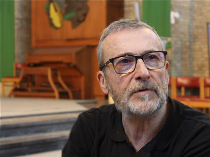 Luc, kerkmeester in de Kristus-Koningkerk