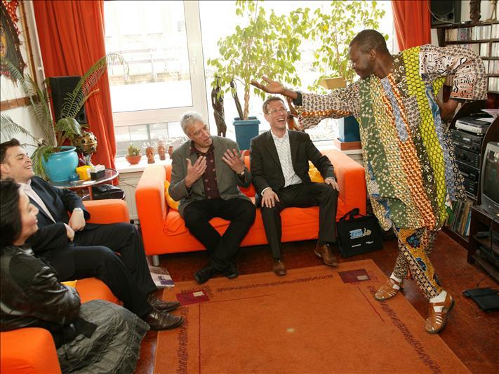 At home at Samba the African Storyteller